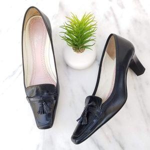 Brooks Brothers Italy Black Tassel Pumps Heels